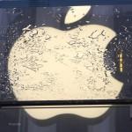 Sandy a mouillé la pomme
